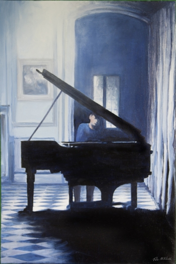 Piano squared floor. Limited edition print. 55cm x 41cm.